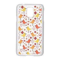 Happy Birds Seamless Pattern Animal Birds Pattern Samsung Galaxy S5 Case (white)