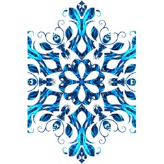 Blue Snowflake On Black Background 5.5  x 8.5  Notebooks
