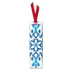 Blue Snowflake On Black Background Small Book Marks