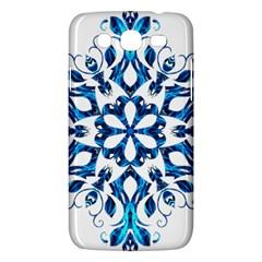 Blue Snowflake On Black Background Samsung Galaxy Mega 5 8 I9152 Hardshell Case