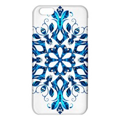 Blue Snowflake On Black Background Iphone 6 Plus/6s Plus Tpu Case