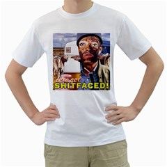 Lets Get Shitfaced! Men s T-Shirt (White) (Two Sided)