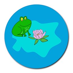 Frog Flower Lilypad Lily Pad Water Round Mousepads