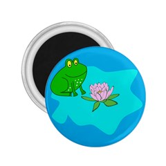 Frog Flower Lilypad Lily Pad Water 2 25  Magnets