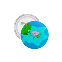 Frog Flower Lilypad Lily Pad Water 1 75  Buttons