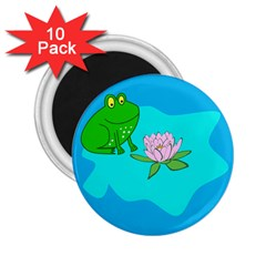 Frog Flower Lilypad Lily Pad Water 2.25  Magnets (10 pack)