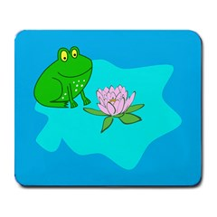 Frog Flower Lilypad Lily Pad Water Large Mousepads