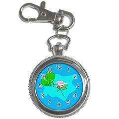 Frog Flower Lilypad Lily Pad Water Key Chain Watches