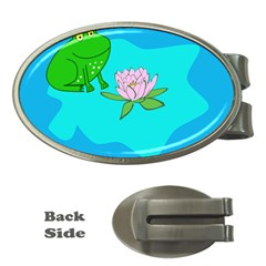 Frog Flower Lilypad Lily Pad Water Money Clips (oval)