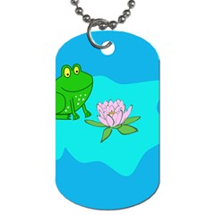 Frog Flower Lilypad Lily Pad Water Dog Tag (Two Sides)