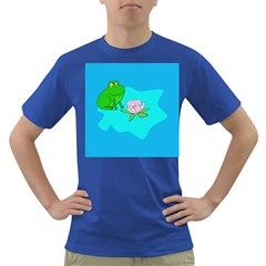 Frog Flower Lilypad Lily Pad Water Dark T Shirt