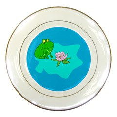Frog Flower Lilypad Lily Pad Water Porcelain Plates