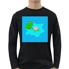 Frog Flower Lilypad Lily Pad Water Long Sleeve Dark T Shirts