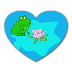Frog Flower Lilypad Lily Pad Water Heart Mousepads