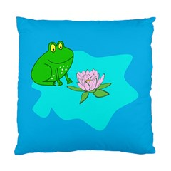 Frog Flower Lilypad Lily Pad Water Standard Cushion Case (One Side)