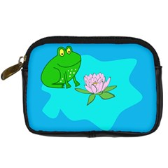 Frog Flower Lilypad Lily Pad Water Digital Camera Cases