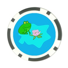 Frog Flower Lilypad Lily Pad Water Poker Chip Card Guard (10 pack)