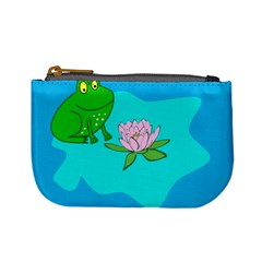 Frog Flower Lilypad Lily Pad Water Mini Coin Purses