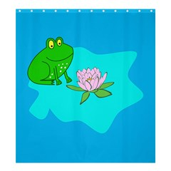 Frog Flower Lilypad Lily Pad Water Shower Curtain 66  x 72  (Large)