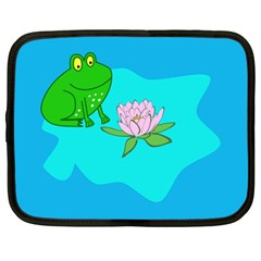 Frog Flower Lilypad Lily Pad Water Netbook Case (xl)