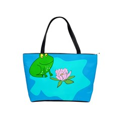 Frog Flower Lilypad Lily Pad Water Shoulder Handbags