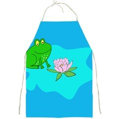 Frog Flower Lilypad Lily Pad Water Full Print Aprons