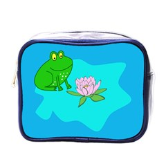 Frog Flower Lilypad Lily Pad Water Mini Toiletries Bags