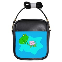 Frog Flower Lilypad Lily Pad Water Girls Sling Bags