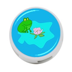 Frog Flower Lilypad Lily Pad Water 4-Port USB Hub (One Side)