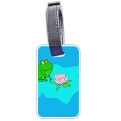 Frog Flower Lilypad Lily Pad Water Luggage Tags (Two Sides)