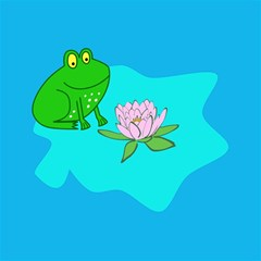 Frog Flower Lilypad Lily Pad Water Magic Photo Cubes