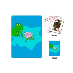 Frog Flower Lilypad Lily Pad Water Playing Cards (Mini)