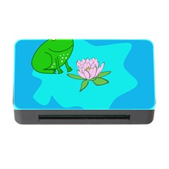 Frog Flower Lilypad Lily Pad Water Memory Card Reader With Cf