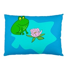 Frog Flower Lilypad Lily Pad Water Pillow Case (Two Sides)