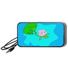 Frog Flower Lilypad Lily Pad Water Portable Speaker (black)