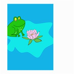 Frog Flower Lilypad Lily Pad Water Small Garden Flag (two Sides)