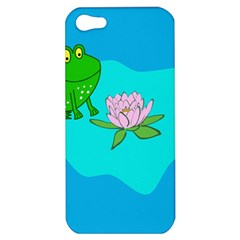 Frog Flower Lilypad Lily Pad Water Apple Iphone 5 Hardshell Case