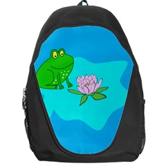 Frog Flower Lilypad Lily Pad Water Backpack Bag