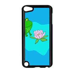 Frog Flower Lilypad Lily Pad Water Apple iPod Touch 5 Case (Black)