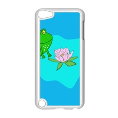 Frog Flower Lilypad Lily Pad Water Apple iPod Touch 5 Case (White)