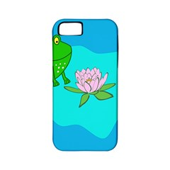 Frog Flower Lilypad Lily Pad Water Apple iPhone 5 Classic Hardshell Case (PC+Silicone)