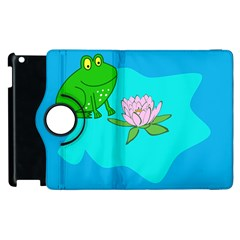 Frog Flower Lilypad Lily Pad Water Apple Ipad 2 Flip 360 Case