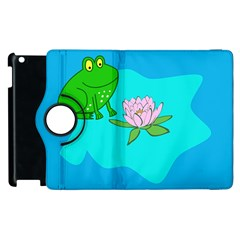 Frog Flower Lilypad Lily Pad Water Apple Ipad 3/4 Flip 360 Case