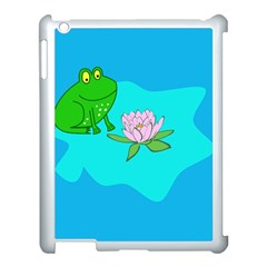 Frog Flower Lilypad Lily Pad Water Apple Ipad 3/4 Case (white)