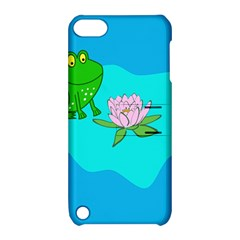 Frog Flower Lilypad Lily Pad Water Apple Ipod Touch 5 Hardshell Case With Stand