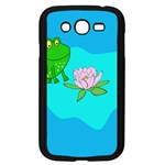 Frog Flower Lilypad Lily Pad Water Samsung Galaxy Grand DUOS I9082 Case (Black) Front