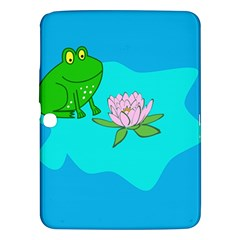 Frog Flower Lilypad Lily Pad Water Samsung Galaxy Tab 3 (10 1 ) P5200 Hardshell Case
