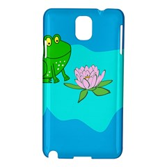 Frog Flower Lilypad Lily Pad Water Samsung Galaxy Note 3 N9005 Hardshell Case