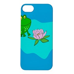 Frog Flower Lilypad Lily Pad Water Apple Iphone 5s/ Se Hardshell Case