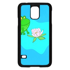 Frog Flower Lilypad Lily Pad Water Samsung Galaxy S5 Case (Black)